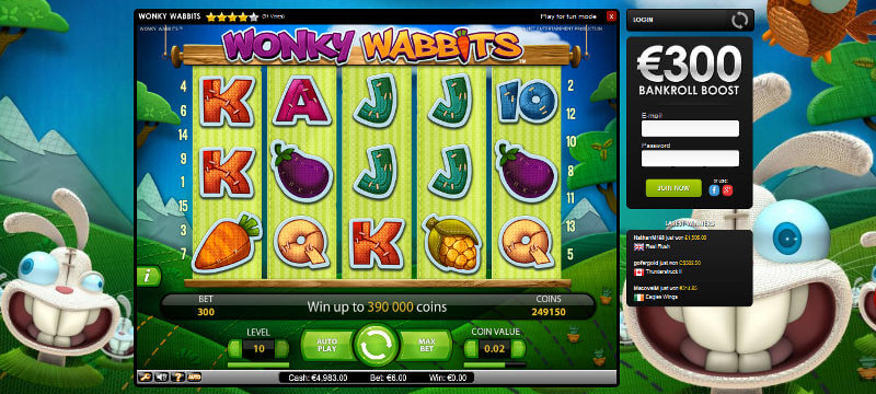 Wonky Wabbits™ Slot Machine Game to Play Free in NetEnts Online Casinos