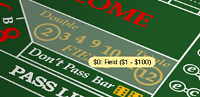 Craps play the field odds