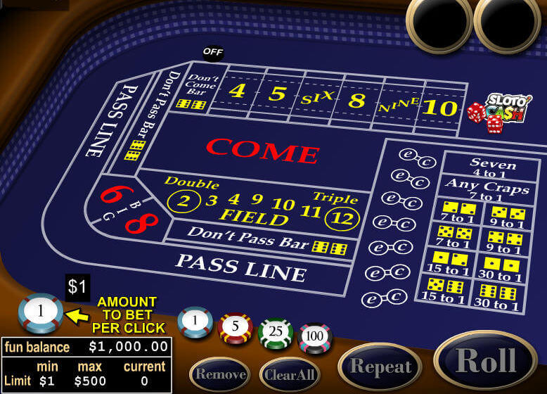Craps Demo Game