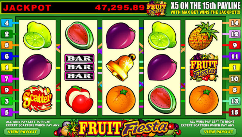Fruit Fiesta Jackpot Value