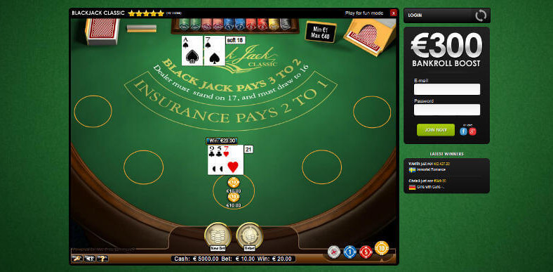 Real Money Online Blackjack