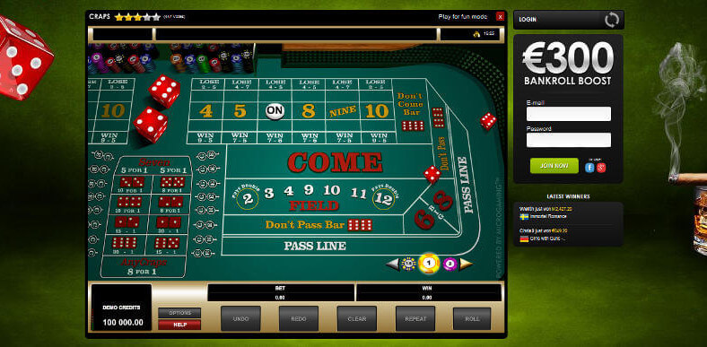 online casino real money dice roll online