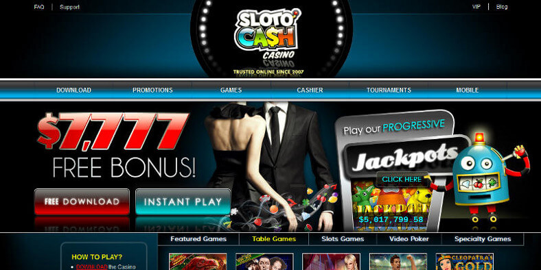 Sloto Cash Casino screenshot