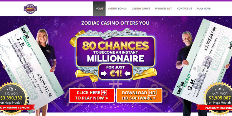 Zodiac Casino screenshot